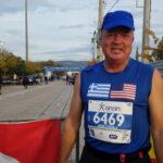 Mark Struble in Athens Marathon